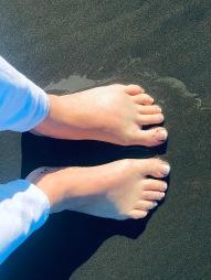 Feet in Ocean Mine